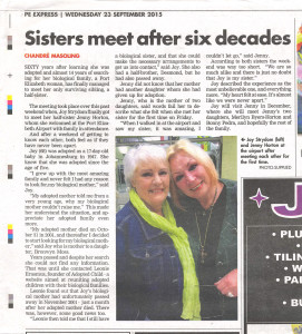 Sisters meet after 6 decades